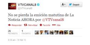 VTV sigue metiendo la pata en Twitter (FOTO)
