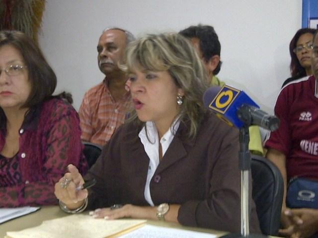 La dirigente sindical Marlene Sifontes. Foto: Prensa Solidaridad/Archivo