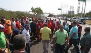 En Anzoátegui petroleros exigieron pagos pendientes
