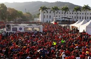 Marea chavista en Caracas (Video)