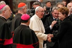 Francisco recibió a Rousseff en el Vaticano