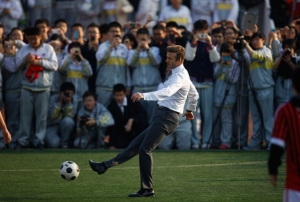 David Beckham se adueñó de Pekín (Fotos)
