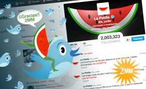 @la_patilla llega a 2 millones de seguidores ¡Muchísimas gracias!