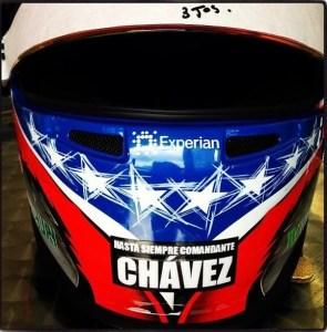 Este es el casco que Pastor Maldonado usará como homenaje a Chávez (foto)