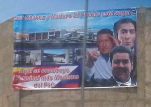 ¿Aló CNE? Ya Chávez y Maduro están encampañados (foto)