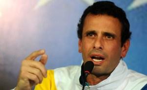 Capriles: Nuestra confrontación es con los corruptos, no con el pueblo