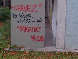 Para invitar a acto por Chávez rayaron paredes de la UCV (Fotos)