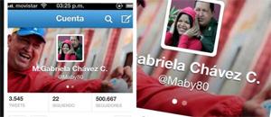 Crean cuenta falsa de la hija de Chávez (Imagen + Tuits)