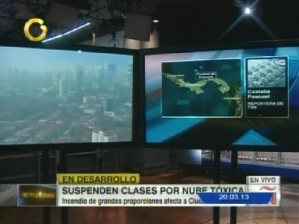 Gran nube tóxica cubre la ciudad de Panamá (FOTO)