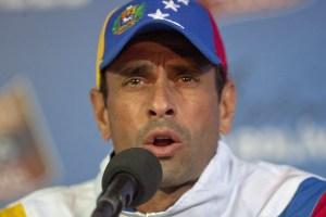 Capriles: Pretenden convertir el conteo de votos en un delito, estar del lado de la paz no es debilidad