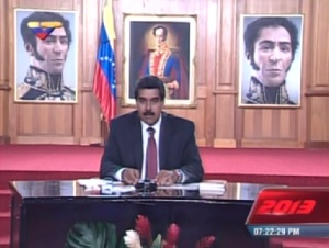 Maduro advierte a Capriles que tendrá que enfrentarse a la ley