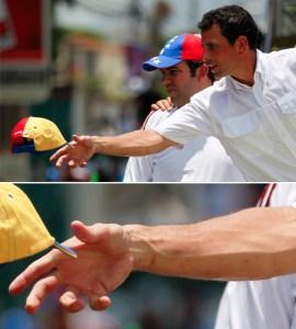 Chicas… tienen a Capriles todo rasguñao (Fotodetalles)