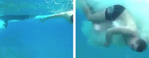 Su amigo graba el momento en que le pasa una hélice por encima mientras bucea (Video)