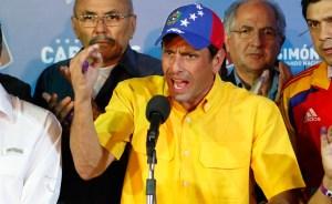 Capriles: La crisis en Venezuela no sólo es económica, también es moral