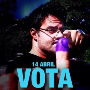 Luis Chataing te invita a votar el 14A (Foto)