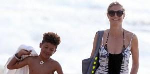Heidi Klum salva a su hijo en playa de Hawai