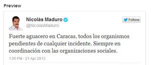 Maduro pide a organismos estar atentos por las lluvias