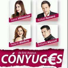 Suspendida obra teatral Cónyuges este fin de semana por Messutti