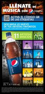 Activa el código de las etiquetas Pepsi y escucha tu artista favorito