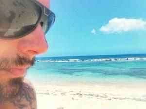 Ricky Martin en una isla paradisíacas en Puerto Rico