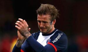 Así lloró David Beckham en su despedida con el PSG (Fotos)