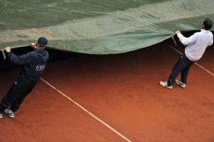 La lluvia interrumpe la semifinal Azarenka-Errani en Roma