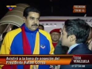 Maduro llegó a Ecuador (Video)
