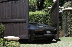 Kanye West aplasta su Lamborghini (Fotos)