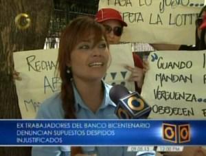 Extrabajadores del Banco Bicentenario denuncian despidos injustificados (Video)