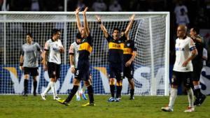 Riquelme metió a Boca en cuartos de final de la Copa Libertadores