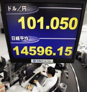 Dólar sube de 100 yenes por primera vez en 4 años