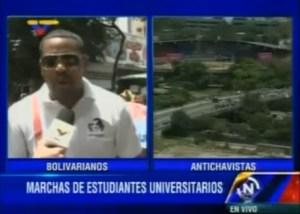 Estudiante oficialista lanza advertencia a opositores: ¡que se cuiden!