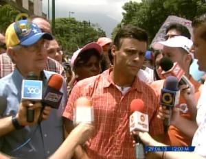 Leopoldo López: Hoy es Caracas y así tiene que ser en toda Venezuela, todos a la calle