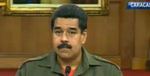 Maduro vestido de Chávez para hablar con los militares
