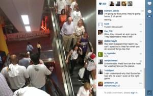 """Fanáticos de """"El Heat"""" se fueron porque pensaron que iban a perder (FOTO + JAJAJA)"""
