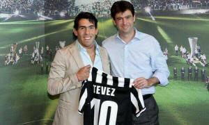 """Tévez llega a la Juventus y lucirá el """"10"""" de Del Piero (Foto)"""