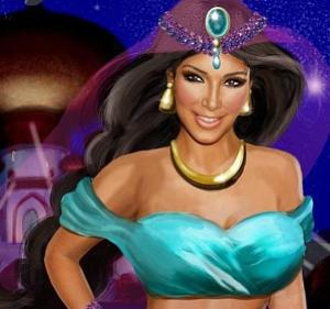 Retratan a Kim Kardashian como Jasmine de Aladdin (Foto + Qué parecido)