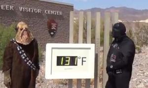 """""""Darth Vader"""" corre 1.500 metros a 53 grados"""