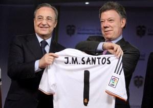 Presidente Juan Manuel Santos se reunió con Florentino Pérez (Fotos)