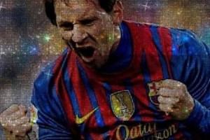 Inmortalizaron a Messi en cristales Swarovski (Fotos)
