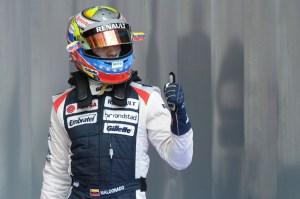 Maldonado sumó su primer punto terminando en el décimo lugar en el GP Hungría