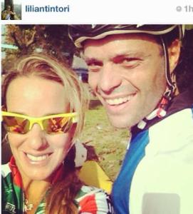 Lilian Tintori y Leopoldo López pasean en bicicleta (Foto + Súper lindo)