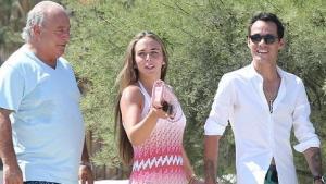 Marc Anthony en un crucero romántico con su nueva novia… y su papá (Fotos)