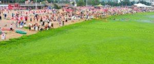 Más fotos: Échate un bañito en estas playas chinas verdecitas (muchas algas + ewww)