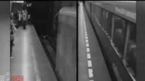 Impresionante: Mujer sale ilesa tras pasarle un tren por encima (Video)