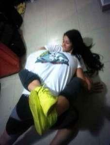 Así practica defensa personal Diosa Canales (Foto)
