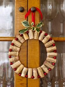 Coronas de adornos para navidad (Fotos)
