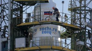 La antorcha olímpica en el espacio, símbolo de la unidad de las naciones
