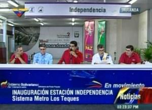 Desde Los Teques Maduro inagura la estación Independencia del Metro