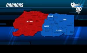 Estos son los resultados en el Área Metropolitana de Caracas
